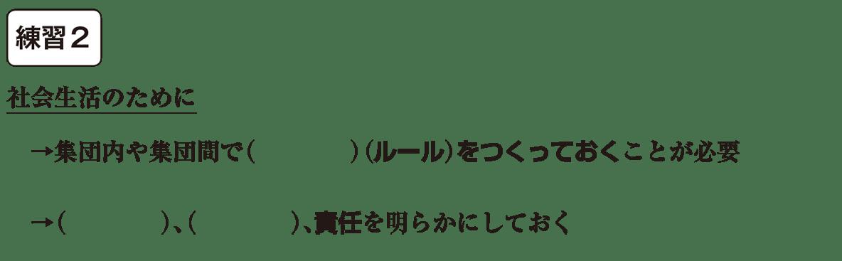中学公民3 練習2 カッコ空欄