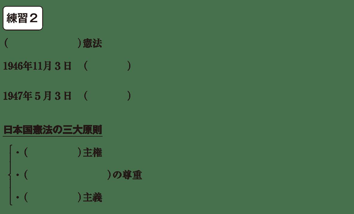 中学公民5 練習2 カッコ空欄