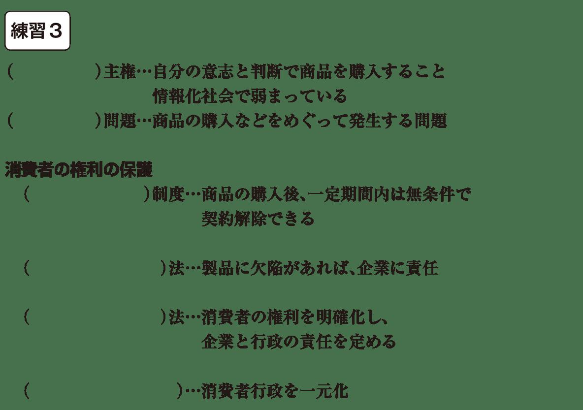 中学公民28 練習3(消費者主権~さいごまで) かっこ空欄