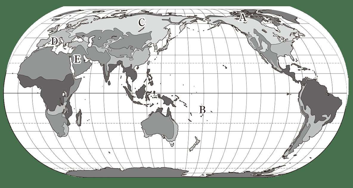 中学地理10 練習 地図のみ