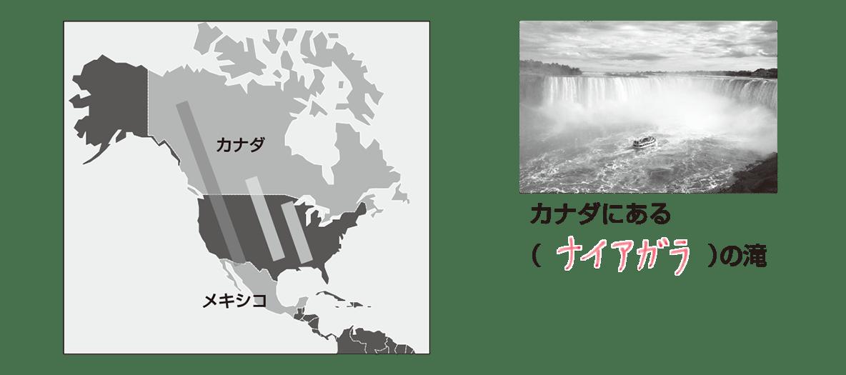 中学地理23 真ん中の地図と右の写真