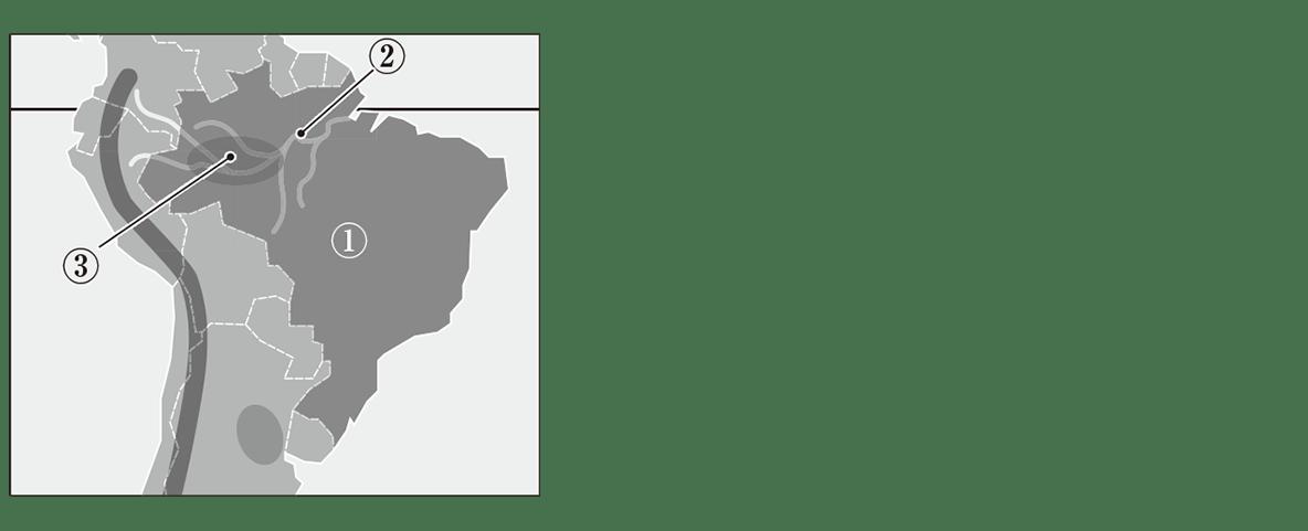 中学地理26 練習1上の地図