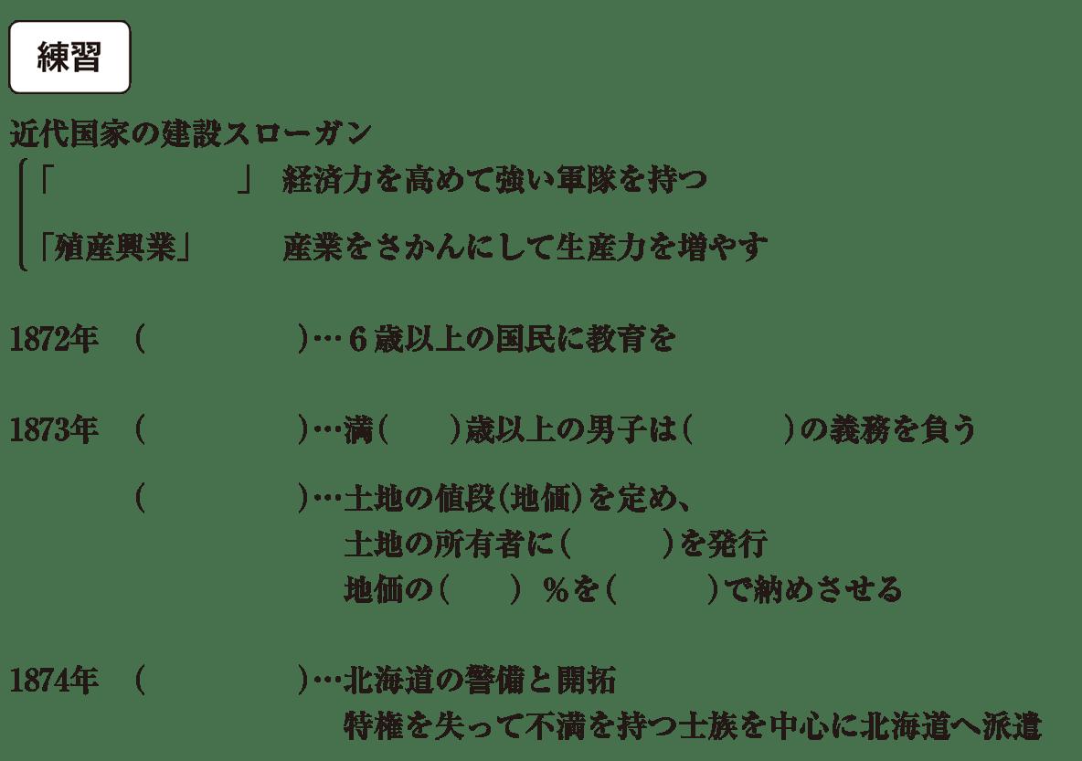 中学歴史45 練習 カッコ空欄
