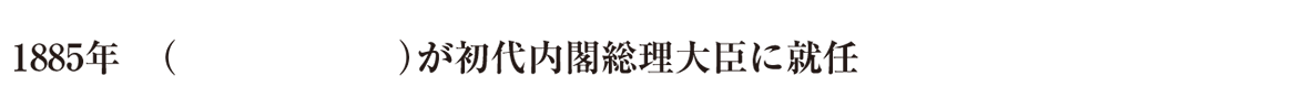中学歴史49 練習1 最初の1行(1885年~)のみ表示、カッコ空欄