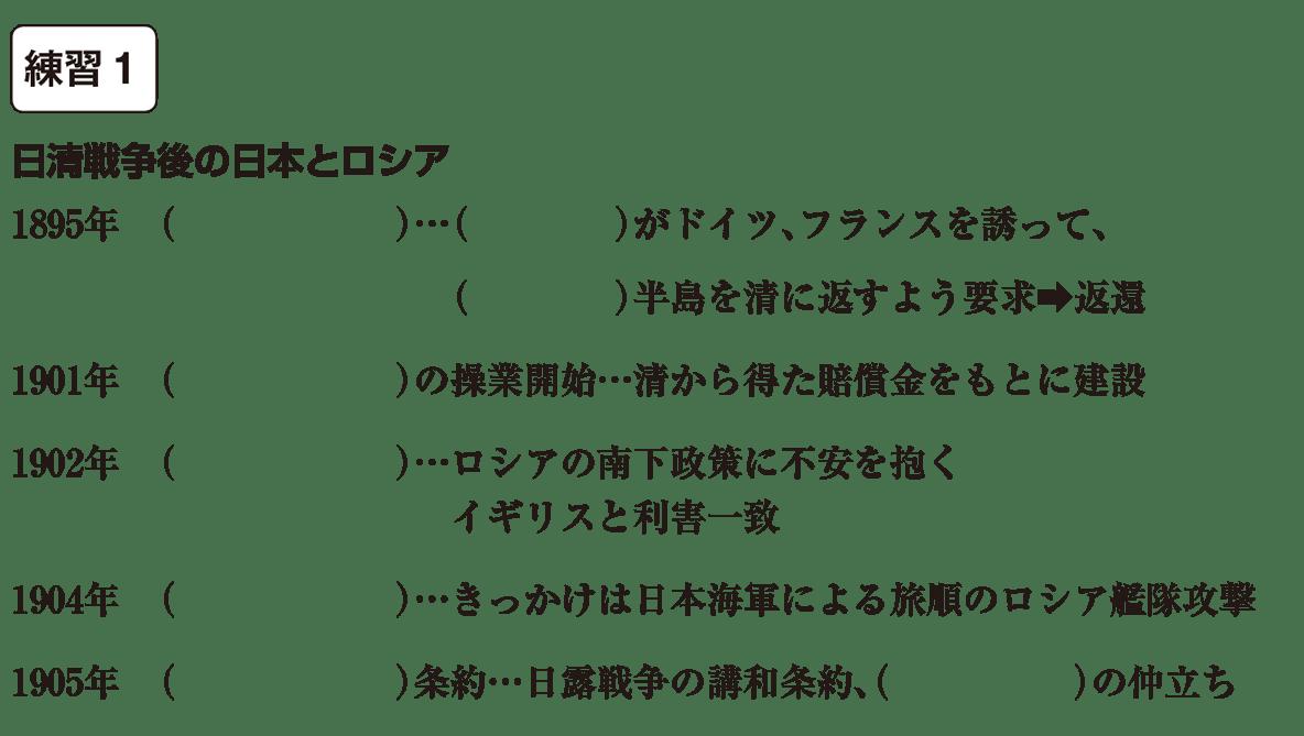 中学歴史51 練習1 カッコ空欄
