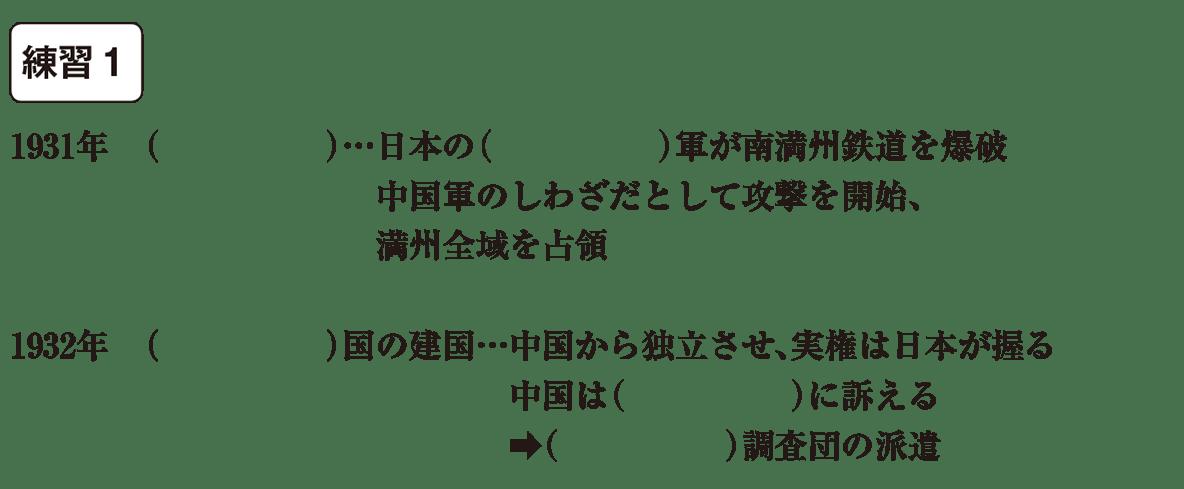 中学歴史58 練習1 カッコ空欄