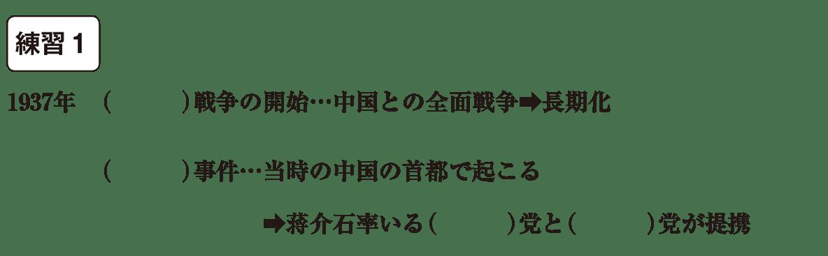 中学歴史59 練習1 カッコ空欄
