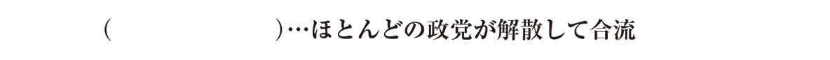 中学歴史59 練習2 最後の1行(大政翼賛会~)のみ表示、カッコ空欄