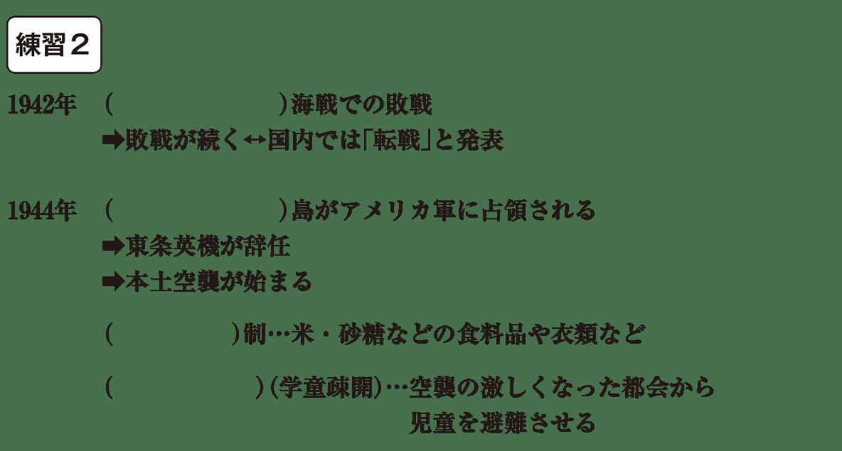 中学歴史61 練習2 カッコ空欄