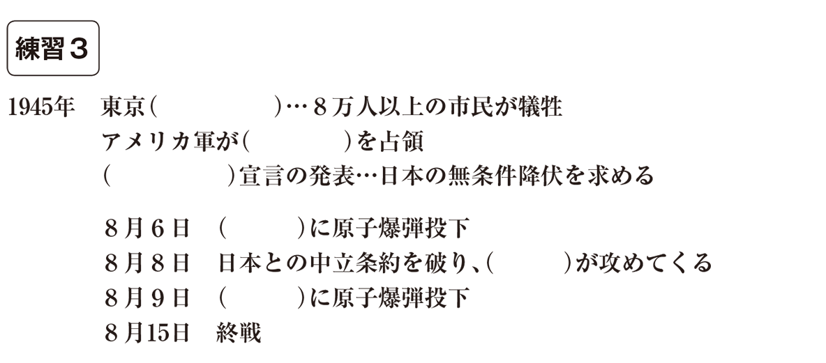 中学歴史61 練習3 カッコ空欄