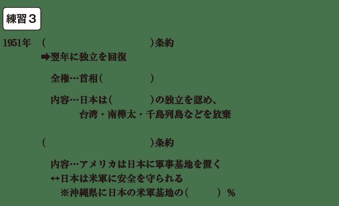 中学歴史64 練習3 カッコ空欄