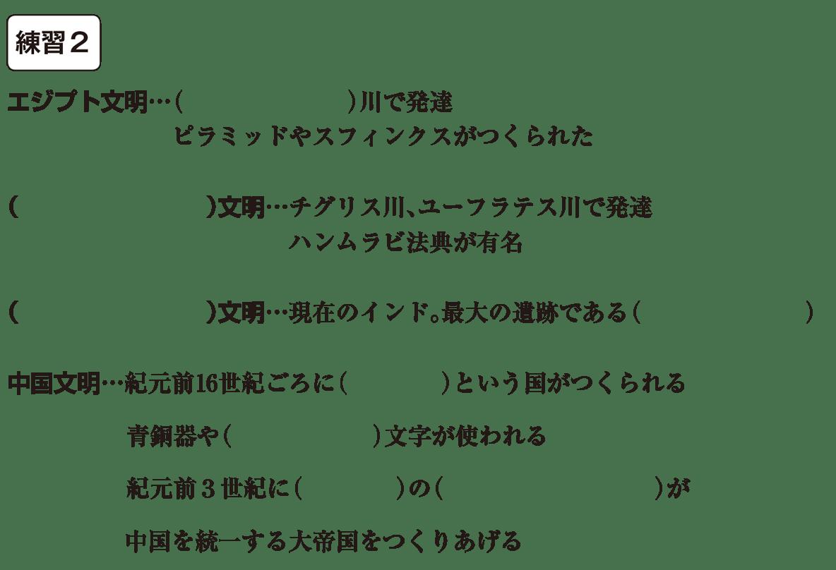 中学歴史2 練習2 カッコ空欄
