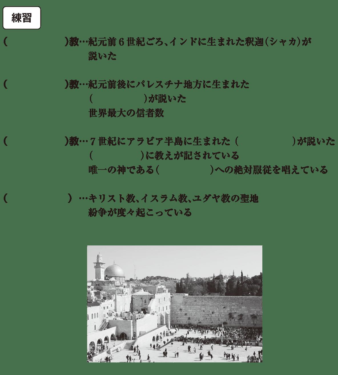 中学歴史3 練習 カッコ空欄