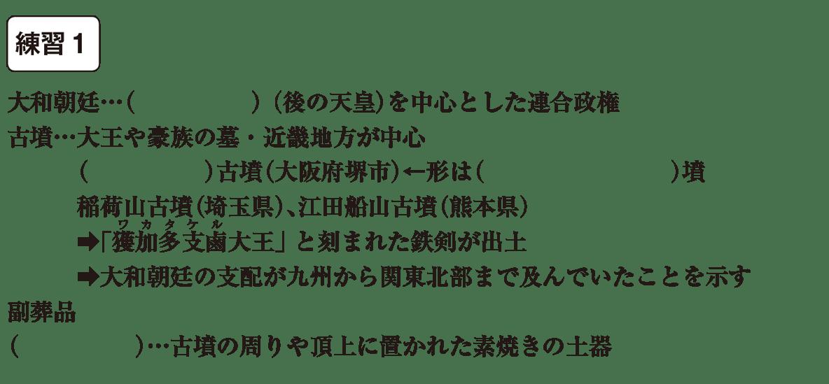 中学歴史6 練習1 カッコ空欄