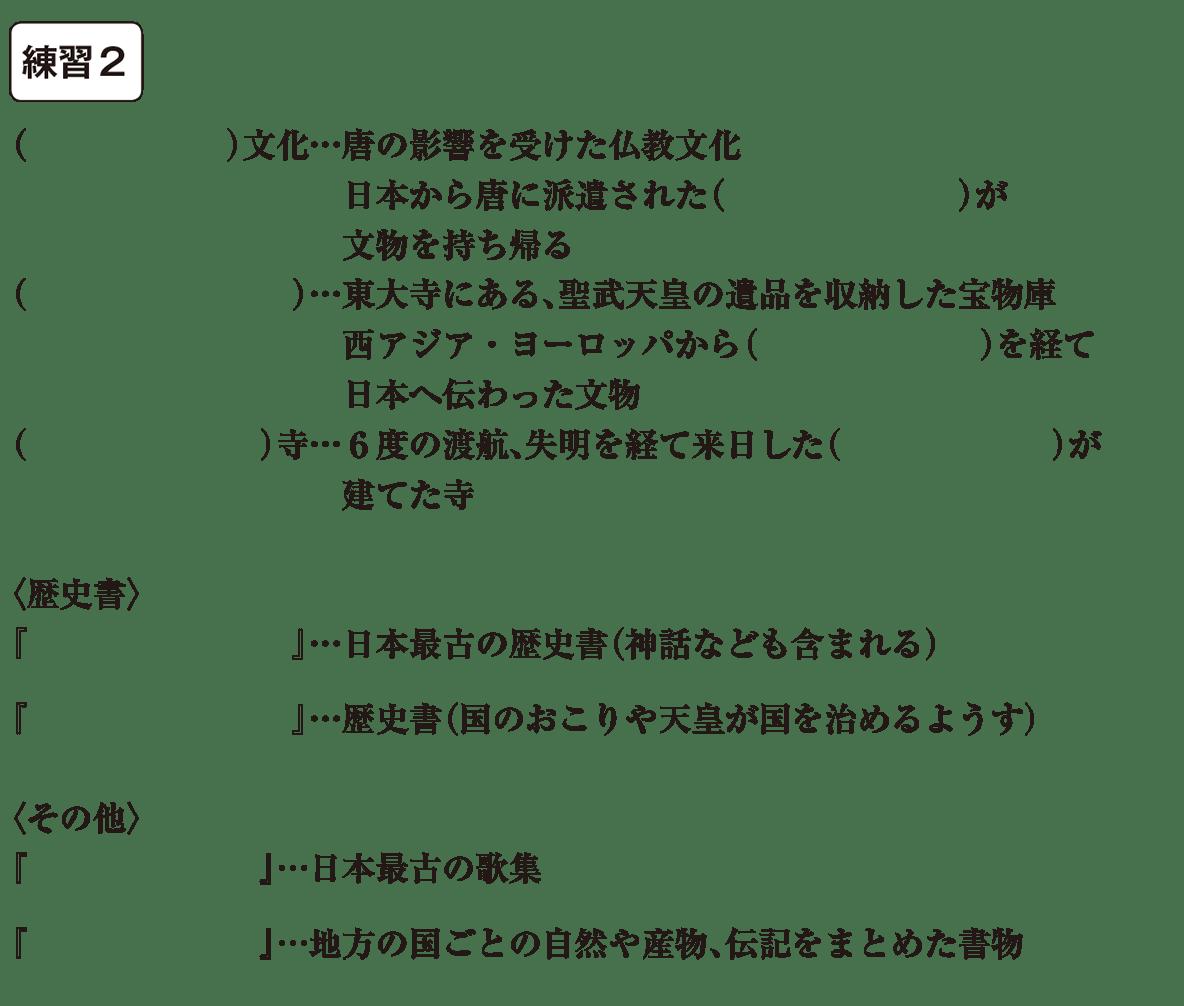 中学歴史10 練習2 カッコ空欄