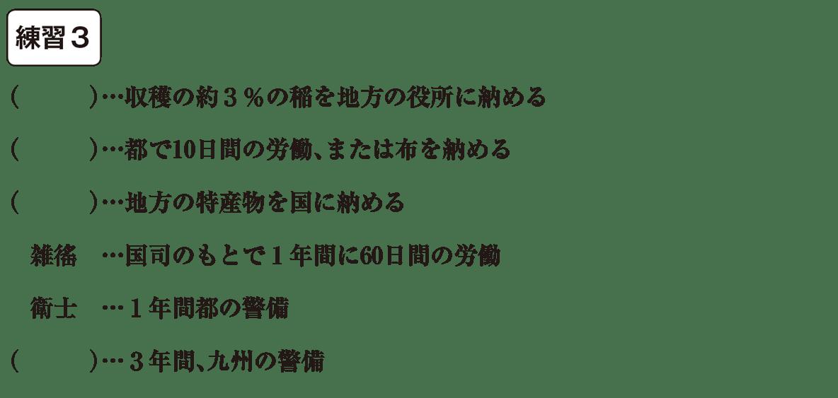 中学歴史6 練習3 カッコ空欄