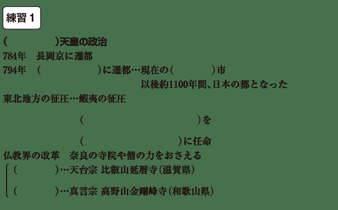 中学歴史11 練習1 カッコ空欄