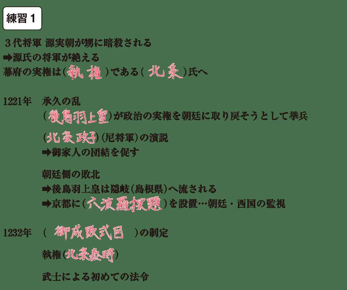中学歴史16 練習1 カッコ空欄