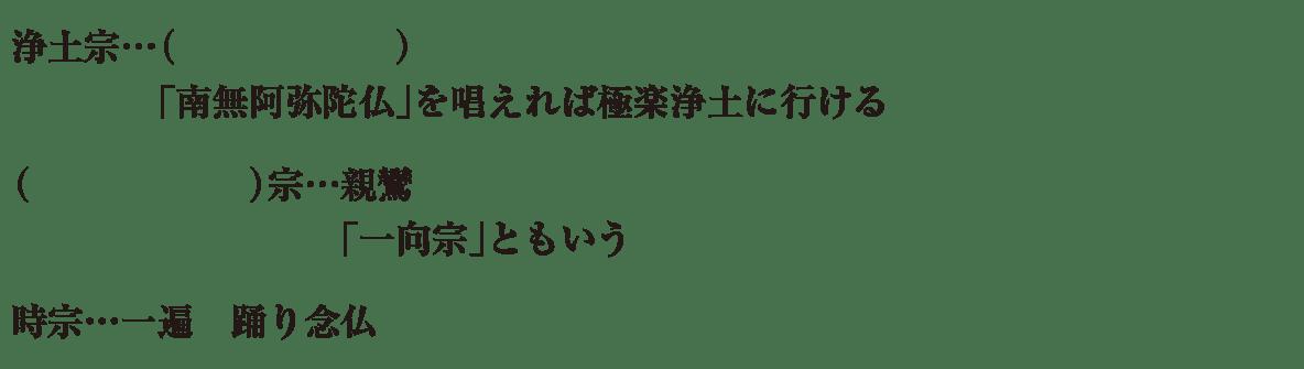 中学歴史17 練習1 浄土宗~時宗まで表示、カッコ空欄