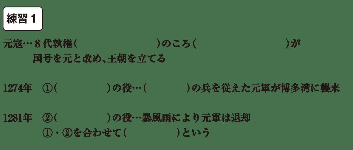 中学歴史18 練習1 カッコ空欄