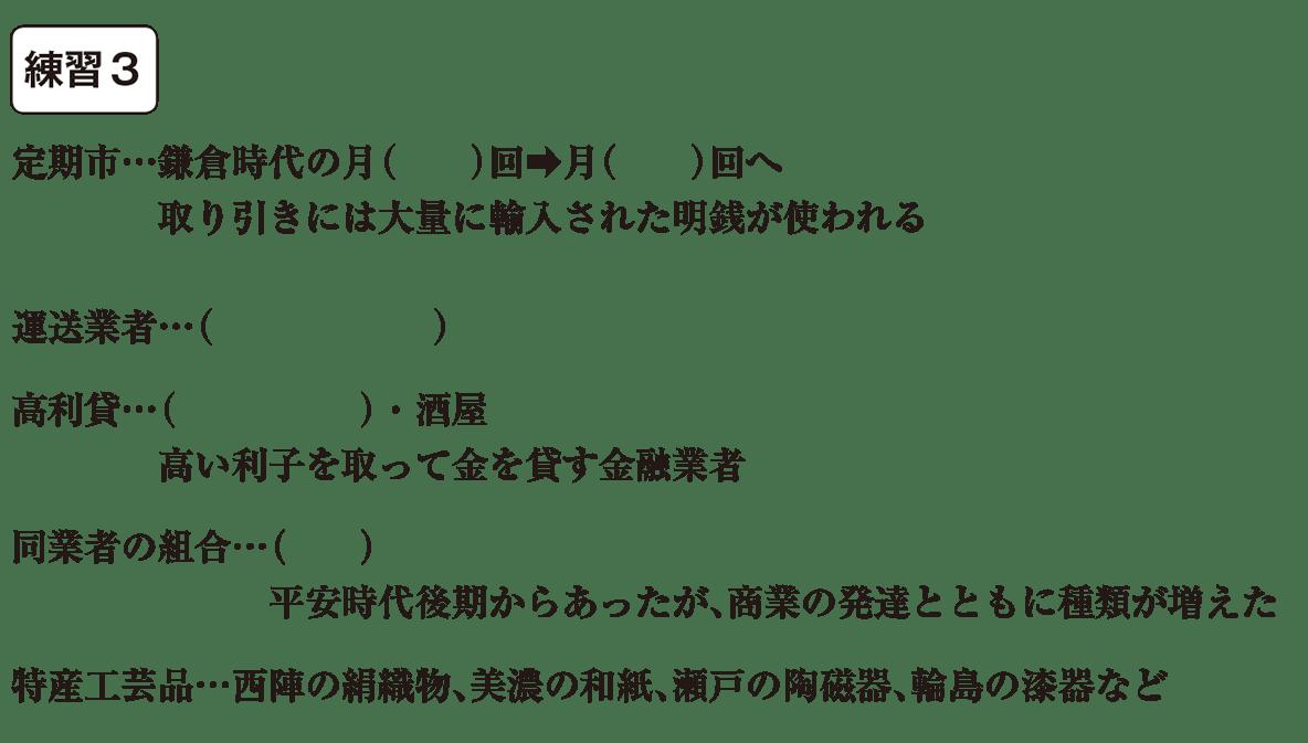 中学歴史22 練習2 カッコ空欄