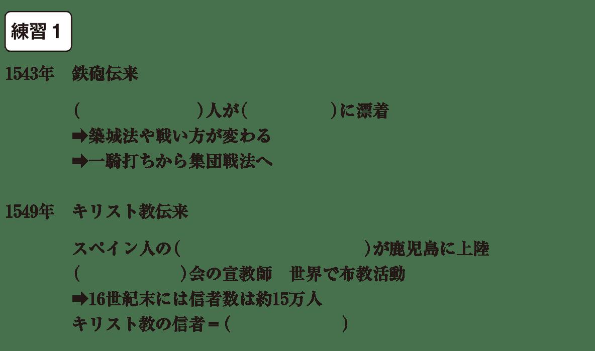 中学歴史26 練習1 カッコ空欄