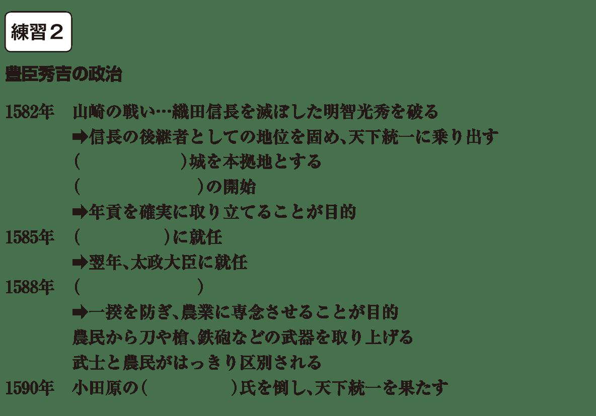中学歴史27 練習2 カッコ空欄