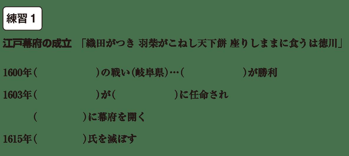 中学歴史29 練習1 カッコ空欄