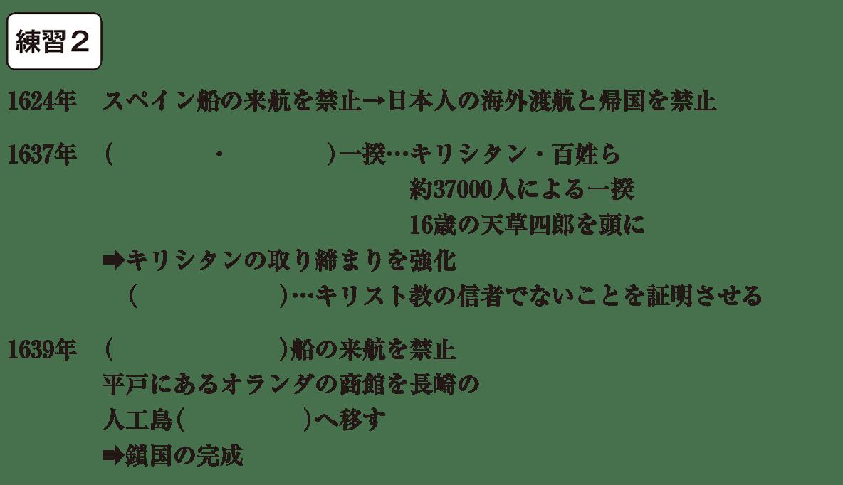 中学歴史31 練習2 カッコ空欄