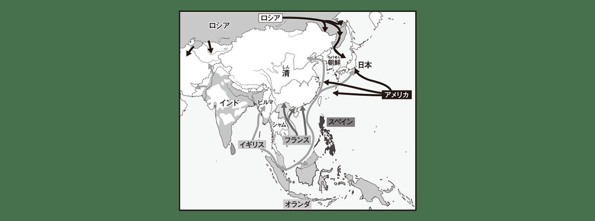 中学歴史41 ポイント2 左の地図のみ表示