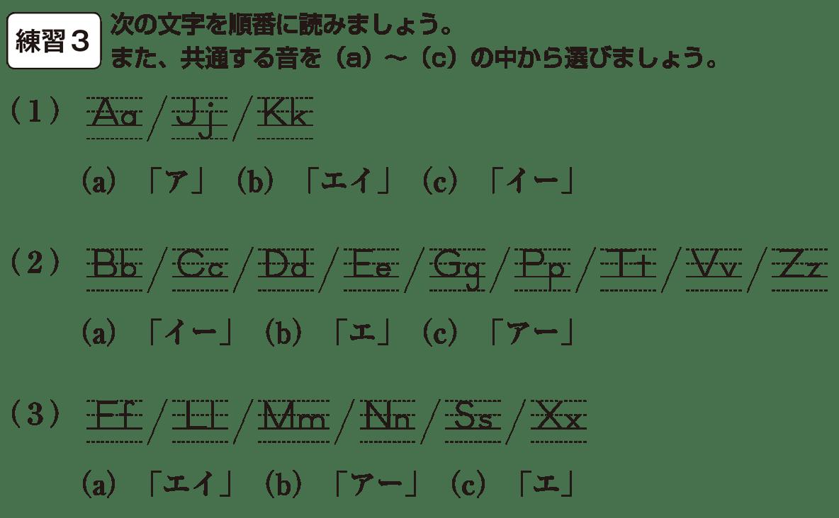 中1 英語1 練習3