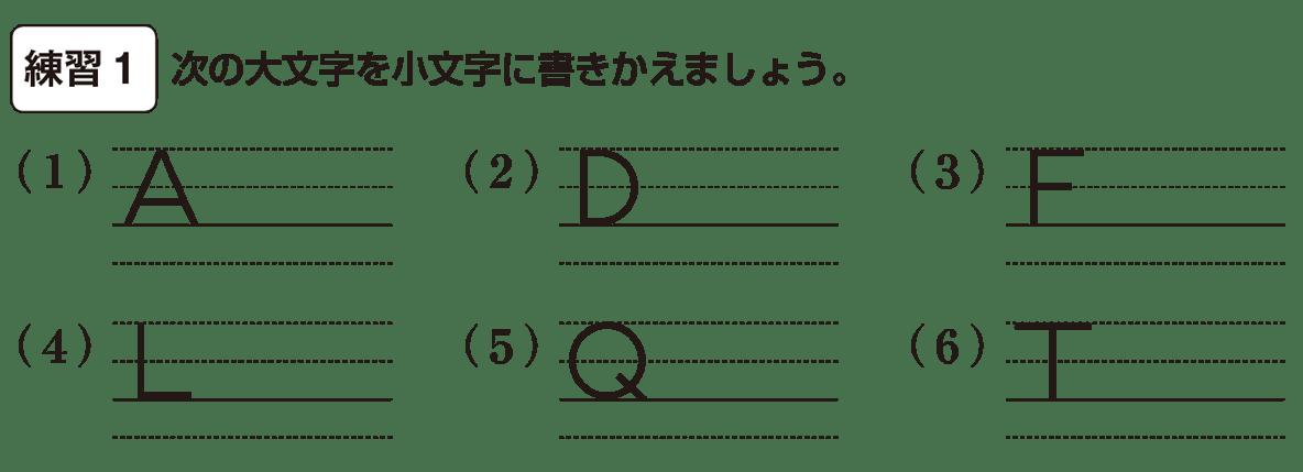 中1 英語2 練習1