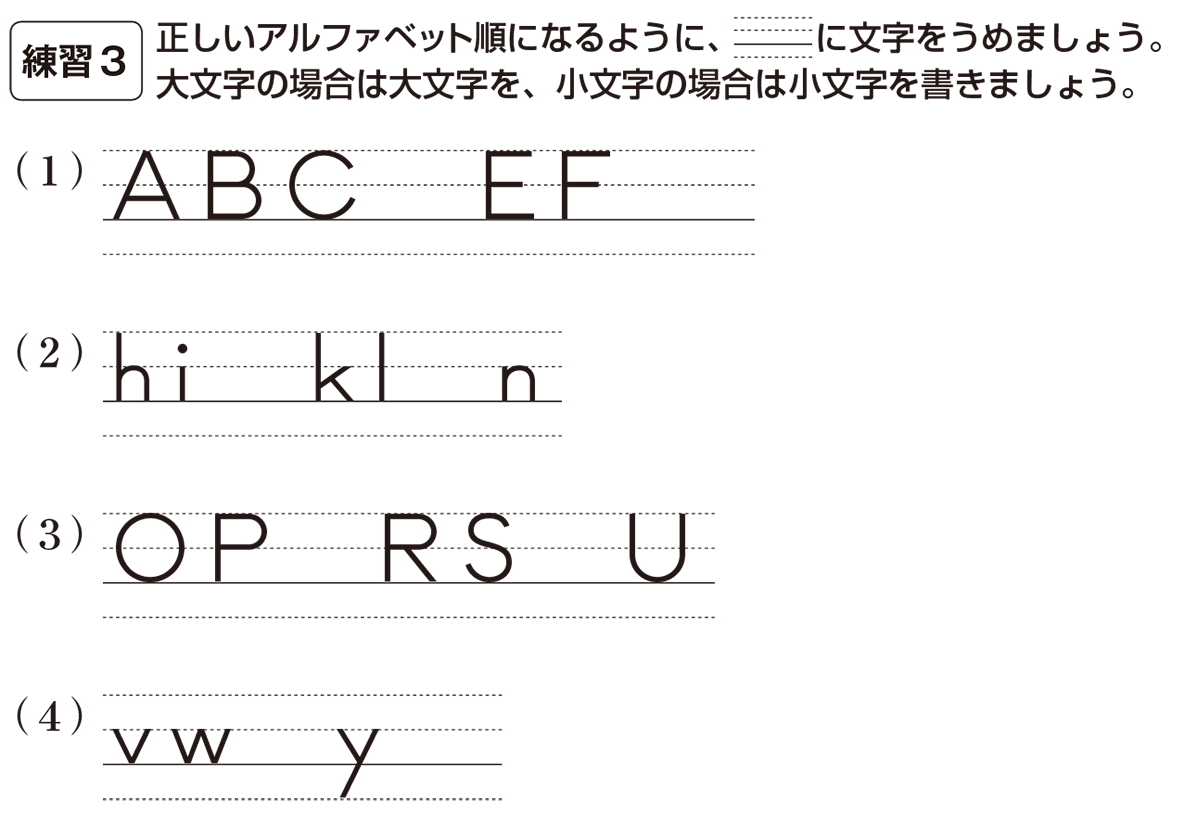 中1 英語2 練習3