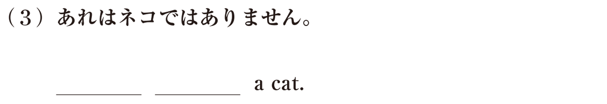 中1 英語10 練習(3)