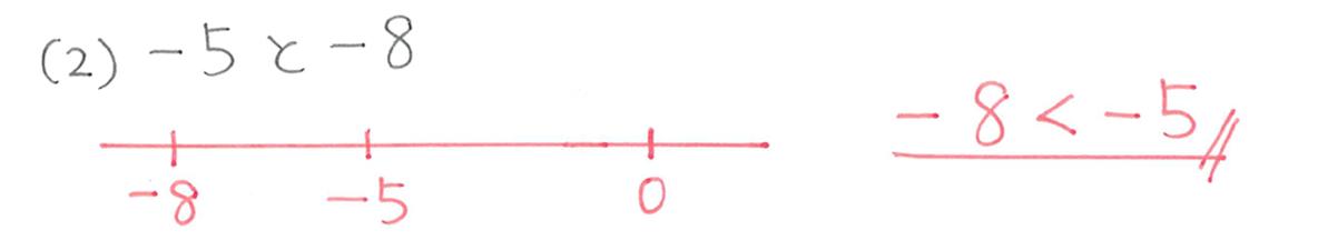 中1 数学5 例題(2)の答え