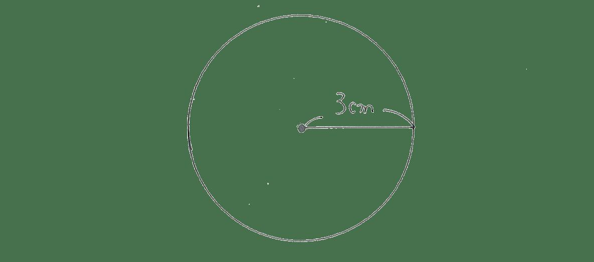 中1 数学21 例題 手書き解答の円のみ