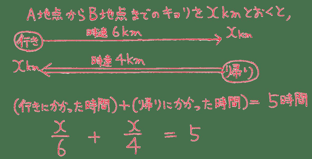 中1 数学42 練習の答え 5行目まで