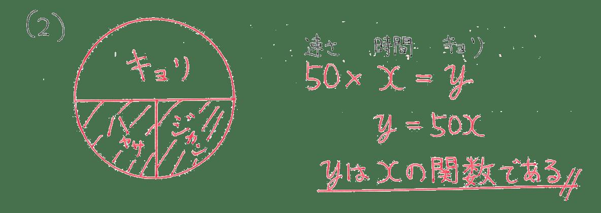 中1 数学44 例題(2)の答え
