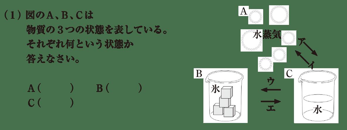 中1 理科化学17 練習1 (1)答えなし