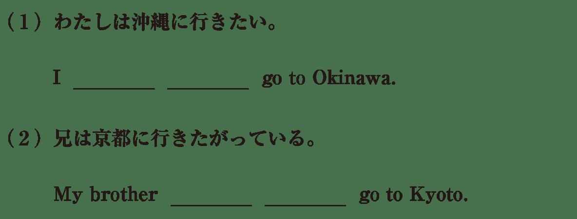 中2 英語55 練習(1)(2)