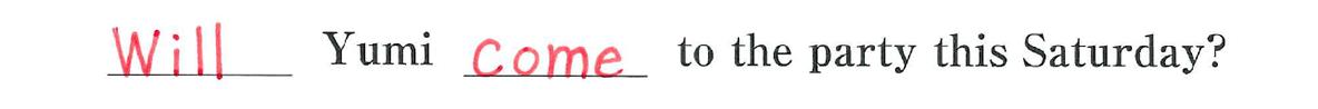 中2 英語60 練習(3)の答え