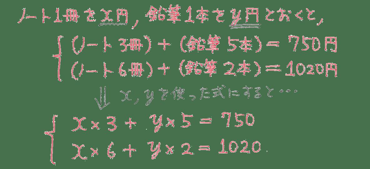中2 数学103 練習 解答6行目まで