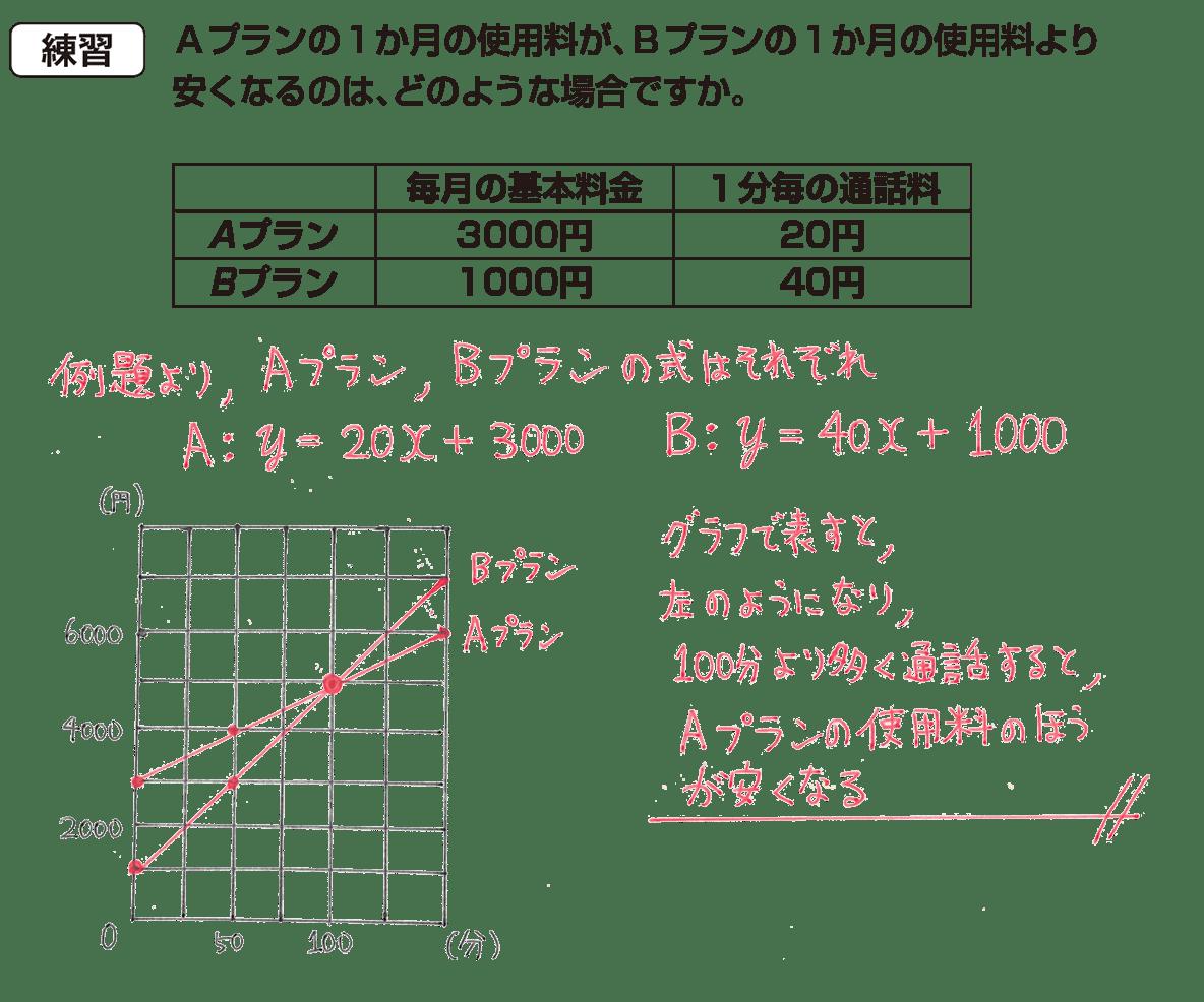 中2 数学118 練習の答え