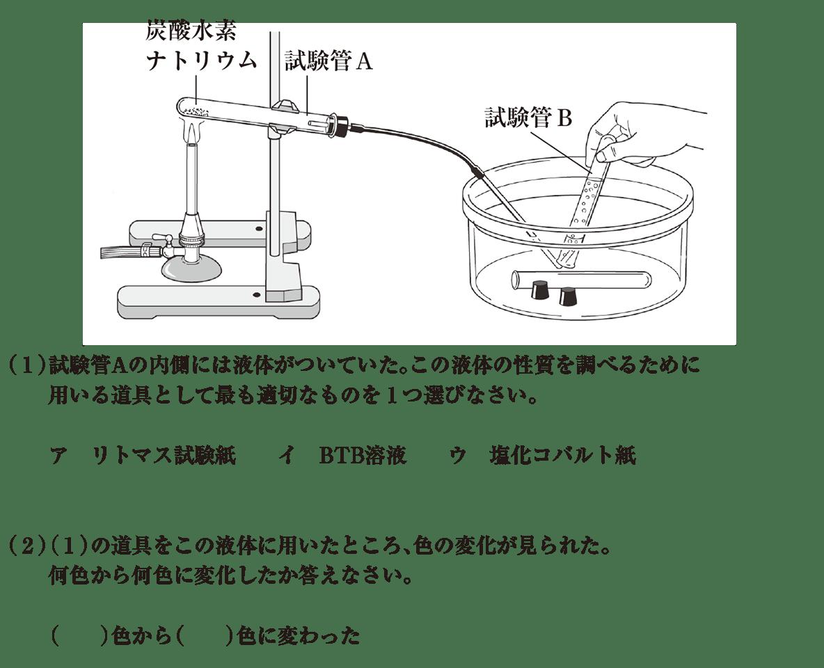 中2 理科化学1 練習1(1)(2) イラストつき