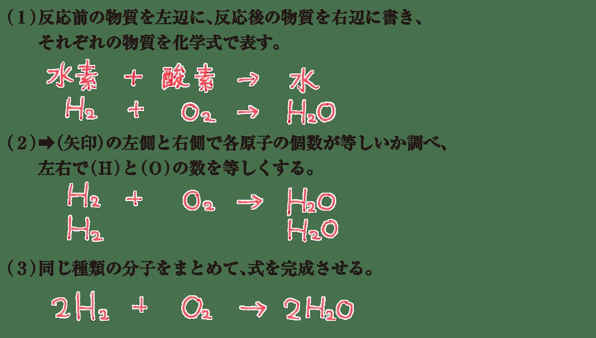 中2 理科化学8 練習2、答えあり
