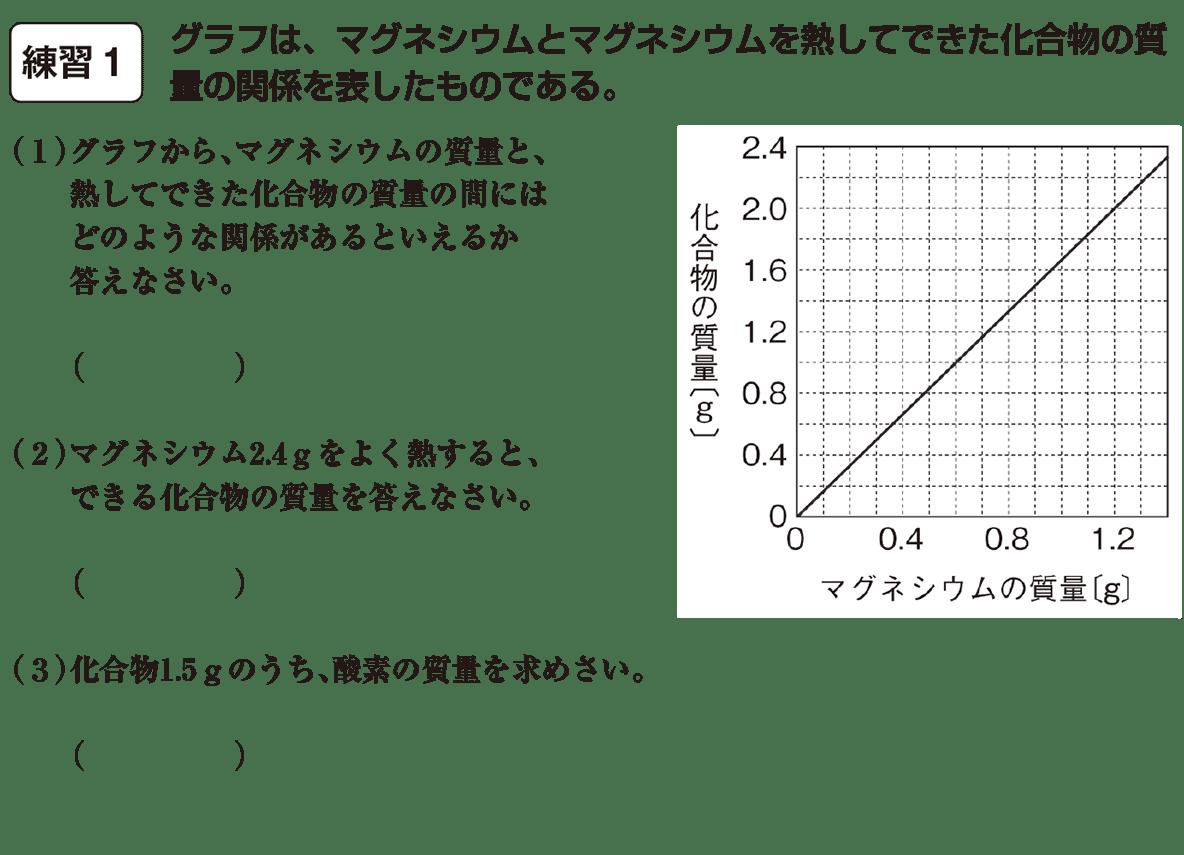 中2 理科化学14 練習1、空欄