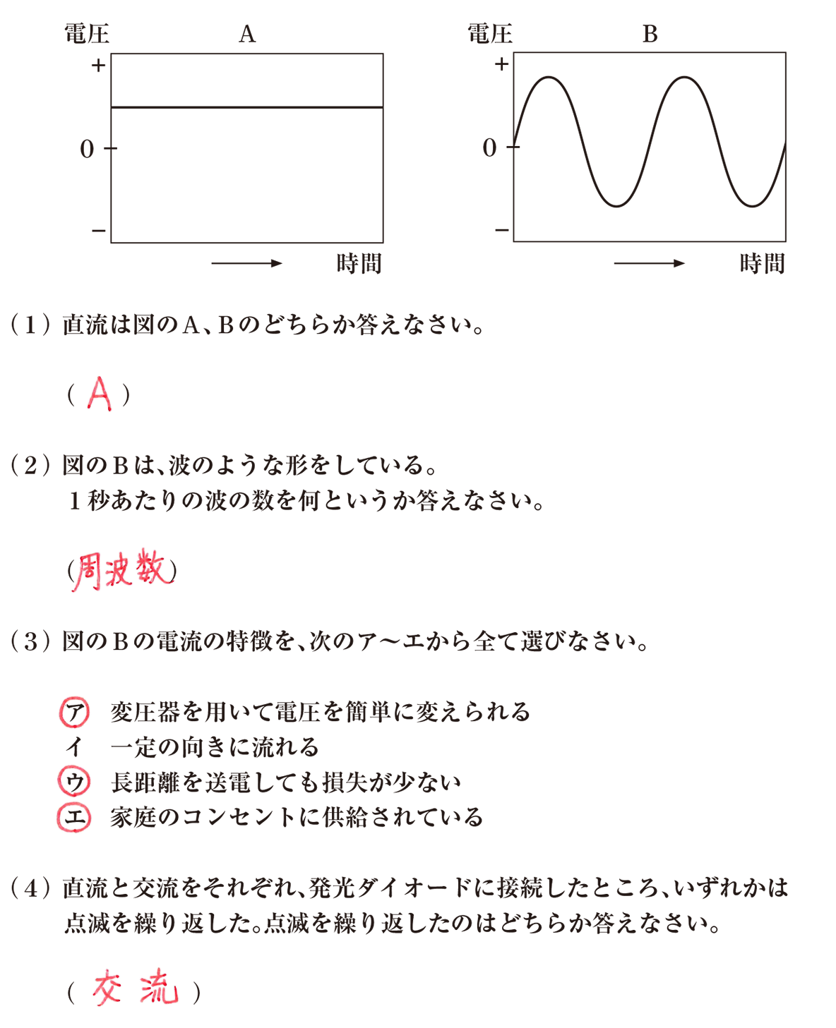 中2 物理15 練習 答えあり