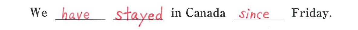 中3 英語81 練習(2)の答え