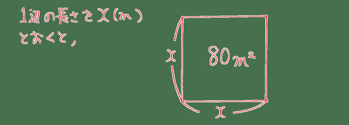 中3 数学203 例題 答え2行目まで+図