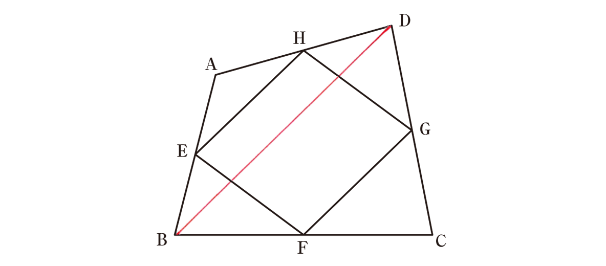 中3 数学231 練習の答え 問題に補助線を引いた図
